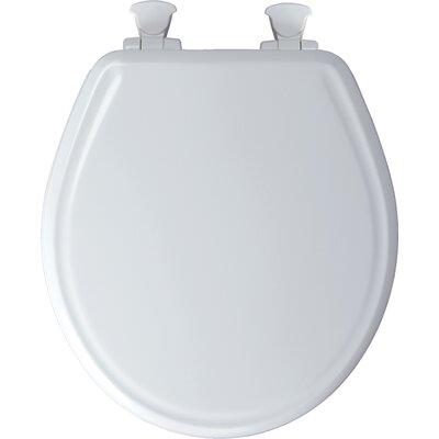 Premium Molded Wood Round Toilet Seat