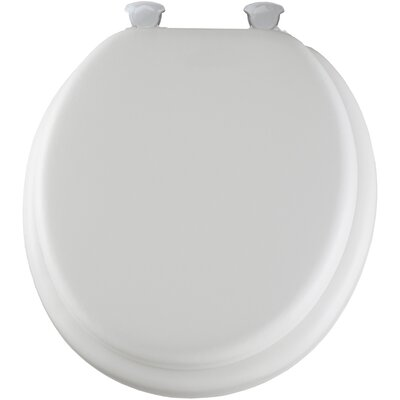 Delux Soft Round Toilet Seat Finish: White