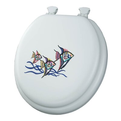 Embroidered Tropical Fish Lift-Off Toilet Seat