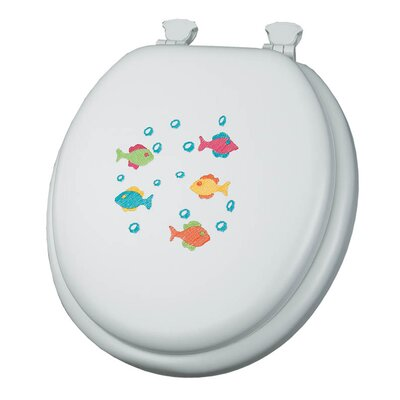 Embroidered School of Color Lift-Off Toilet Seat