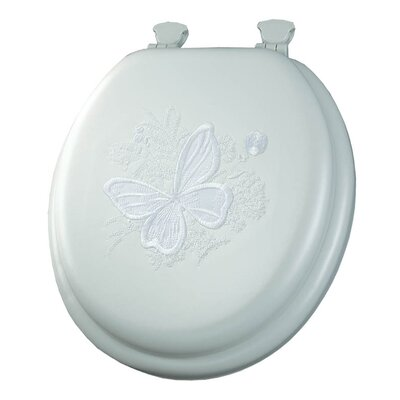 Embroidered Butterfly Lift-Off Toilet Seat