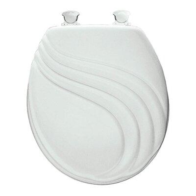 Sculptured Swirl Lift-Off Toilet Seat Finish: White