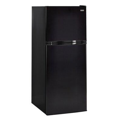11.5 cu. ft. Top Freezer Refrigerator with Spill Proof Shelves Color: Black HA12TG21SB