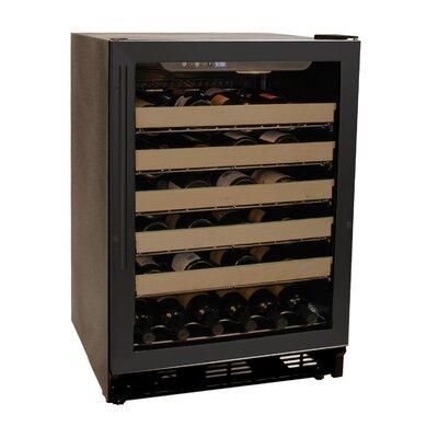 Haier 50 Bottle Single Zone Built-In Wine Refrigerator - Color: Black