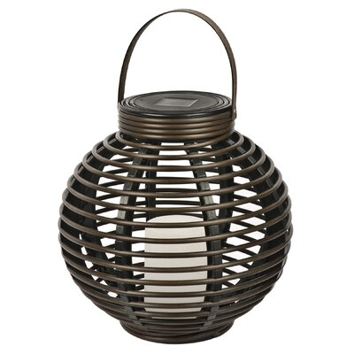 NorthernInternational Solar Flickering Rattan Basket Light at Sears.com