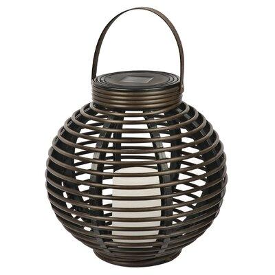 NorthernInternational Solar Flickering Rattan Basket Light