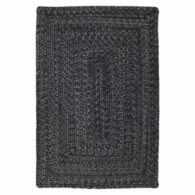 Ultra-Durable Black Indoor/Outdoor Rug Rug Size: 18 x 26