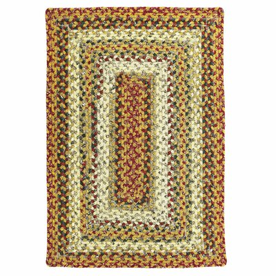 Cotton Braided Pumpkin Pie Area Rug Rug Size: Oval 18 x 26