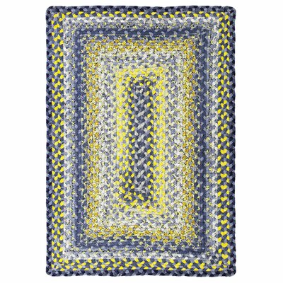 Cotton Braided Sunflowers Area Rug Rug Size: 4 x 6