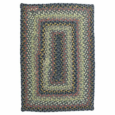 Cotton Braided Enigma Brown Area Rug Rug Size: 6 x 9
