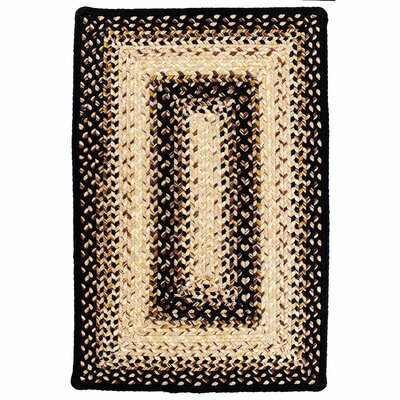 Ultra-Durable Black Mist Indoor/Outdoor Rug Rug Size: 23 x 39