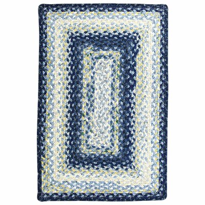 Cotton Braided Wedgewood Area Rug Rug Size: Oval Runner 26 x 9