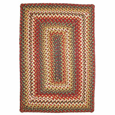 Sunrose Red Indoor/Outdoor Rug Rug Size: Oval 2 x 3