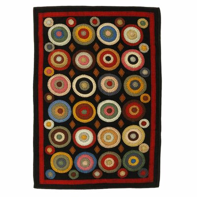 Penny Coin Black Area Rug Rug Size: 8 x 10