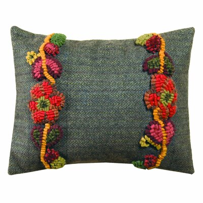 Primitive Floral Vines Handcrafted Lumbar Pillow