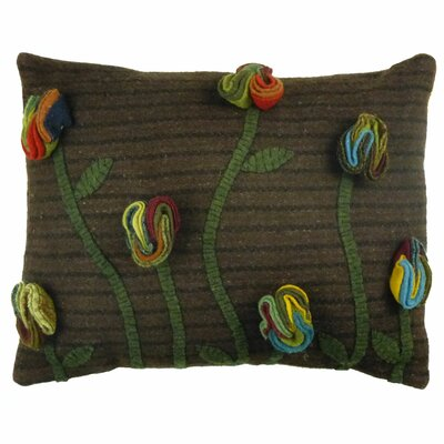 Primitive Poppy Handcrafted Lumbar Pillow