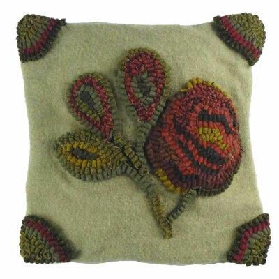 Primitive Antique Rose Throw Pillow