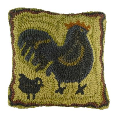 Primitive Mother Hen Handcrafted Throw Pillow