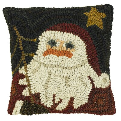 Primitive Here Comes Santa Handcrafted Throw Pillow