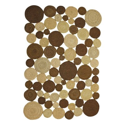 Medallion Indoor/Outdoor Braided Cocoa Area Rug Rug Size: 6 x 9