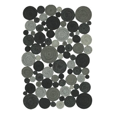 Medallion Indoor/Outdoor Braided Black Area Rug Rug Size: 4 x 6