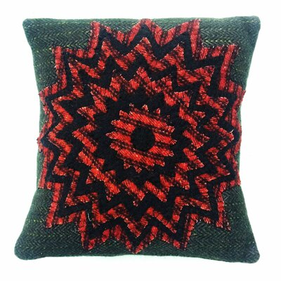 Starburst Handcrafted Applique Wool Throw Pillow