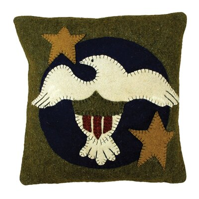 Freedom Handcrafted Applique Wool Throw Pillow