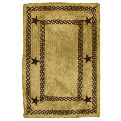 Texas Star Jute Braided Brown Area Rug Rug Size: 18 x 26