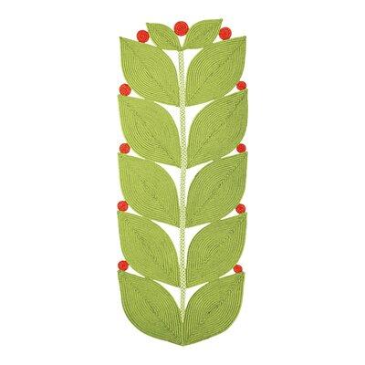 Botanica Eden Indoor/Outdoor Braided Light Green Area Rug Rug Size: Runner 26 x 6