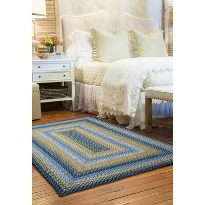 Cotton Braided Sunflowers Area Rug Rug Size: Oval 5 x 8