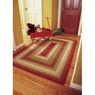 Cotton Braided Sante Fe Sunrise Area Rug Rug Size: Oval Runner 26 x 6