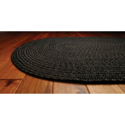 Ultra-Durable Black Solid Indoor/Outdoor Area Rug Rug Size: Oval 4 x 6
