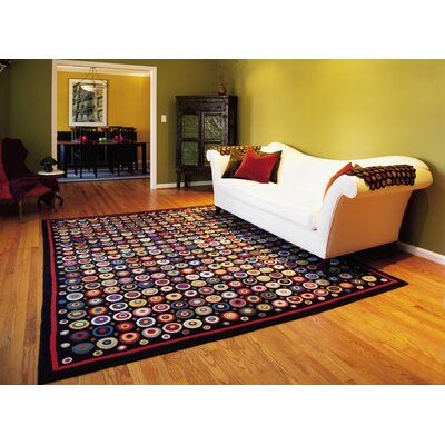 Penny Coin Black Area Rug Rug Size: Runner 26 x 9