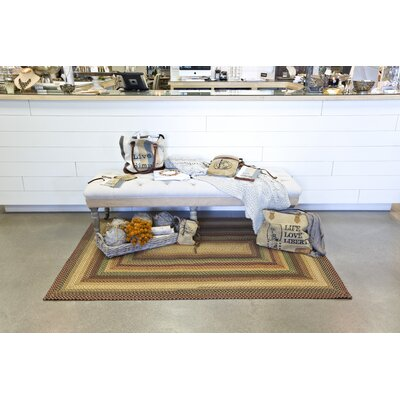Canterbury Gold Indoor/Outdoor Area Rug Rug Size: 23 x 39