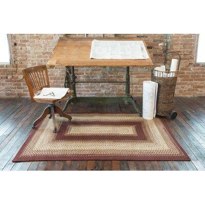 Jasper Burgundy ndoor/Outdoor Area Rug Rug Size: 6 x 9