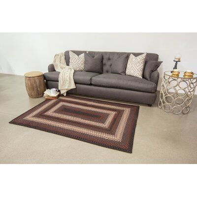 Montgomery Black Indoor/Outdoor Area Rug Rug Size: 5 x 8