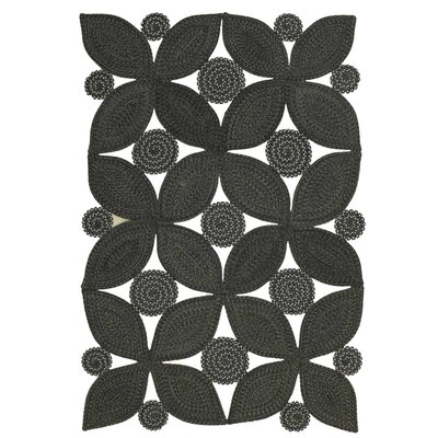 Botanica Meadow Black Indoor/Outdoor Area Rug Rug Size: 2 x 4