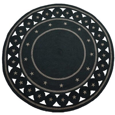 Texas Star Black Area Rug