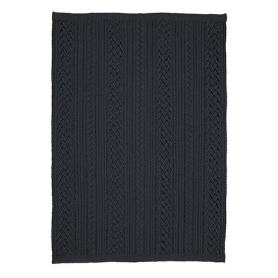 Laguna Black Braided Indoor/Outdoor Area Rug Rug Size: 8 x 10