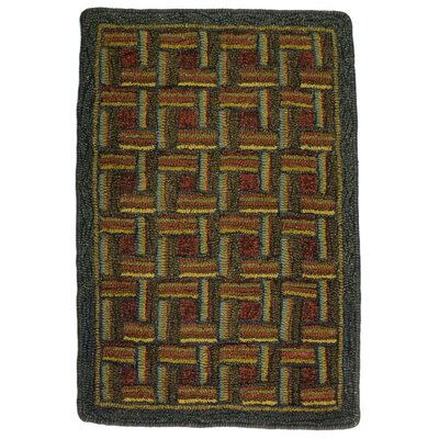 Hand-Crafted Green / Brown Indoor/Outdoor Area Rug
