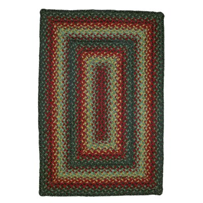 Oklahoma Braided Red / Black Indoor/Outdoor Area Rug Rug Size: 5 x 8