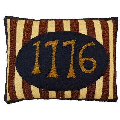 1776 Hand-Crafted Applique Lumbar Pillow