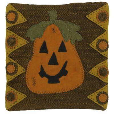 Trick or Treat Applique Wool Throw Pillow