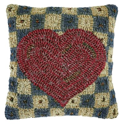 Love Note Hooked Wool Throw Pillow