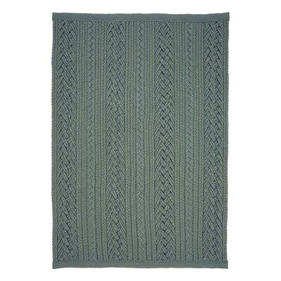 Laguna Braided Silver Indoor/Outdoor Area Rug Rug Size: 8 x 10
