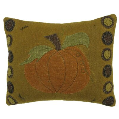 Autumn Applique Wool Throw Pillow