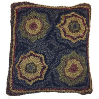 Lilly Hand-Crafted Hooked Wool Throw Pillow
