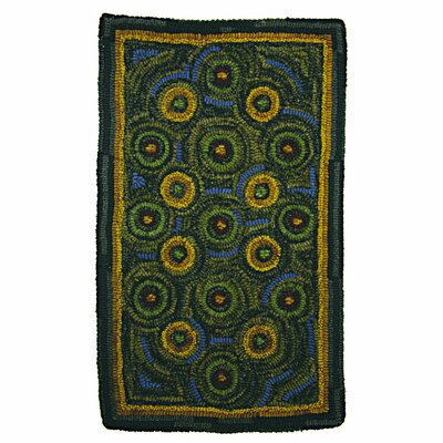 Hand-Crafted Braided Green / Yellow Indoor/Outdoor Area Rug