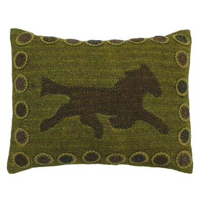 Fury Applique Wool Lumbar Pillow