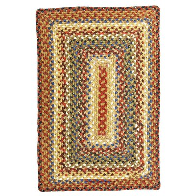 Biscotti Hand-Crafted Braided Brown Area Rug Rug Size: 18 x 26